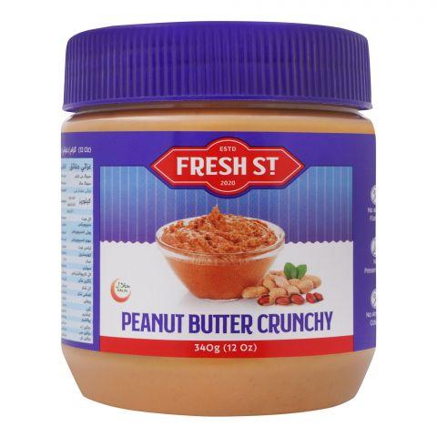 Fresh Street Peanut Butter, Crunchy, 340g