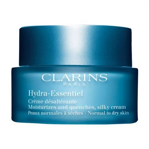 Clarins Paris Hydra-Essentiel. Moisturizes And Quenches, Silky Cream, Normal To Dry Skin, 50ml