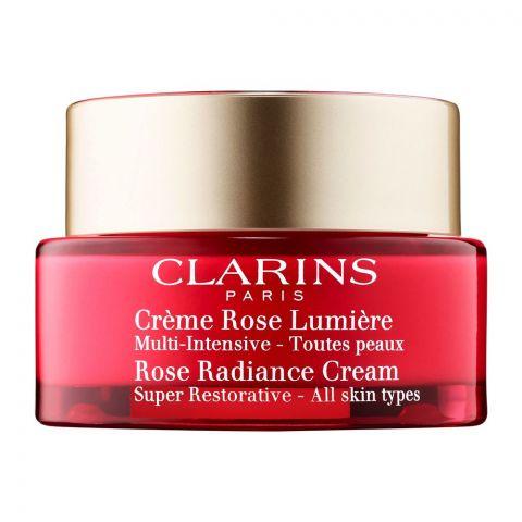 Clarins Paris Super Restorative Rose Radiance Cream, All Skin Types, 50ml