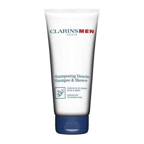 Clarins Paris Men Hair & Body Shampoo & Shower, 200ml