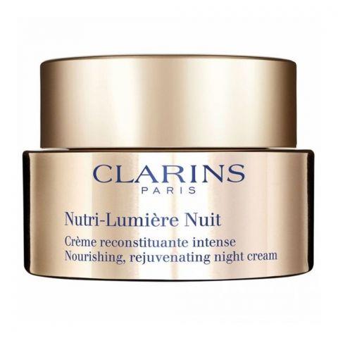 Clarins Paris Nutri-Lumiere Nuit Nourishing, Rejuvenating Night Cream, 50ml