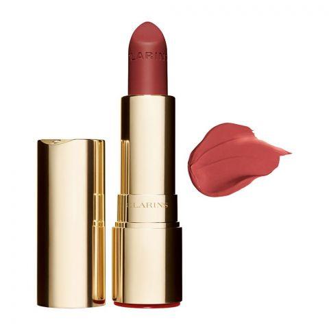 Clarins Paris Joli Rouge Velvet Matte & Moisturizing Long-Wearing Lipstick, 753V Pink Ginger