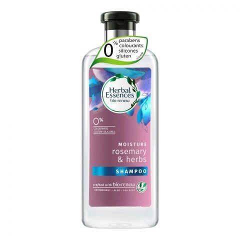 Herbal Essences Bio Renew Moisture Rosemary & Herbs Shampoo, Paraben Free, 400ml