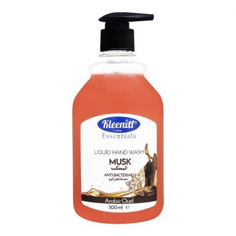 Kleenitt Essential Arabic Oud Musk Anti-Bacterial Liquid Hand Wash, 500ml