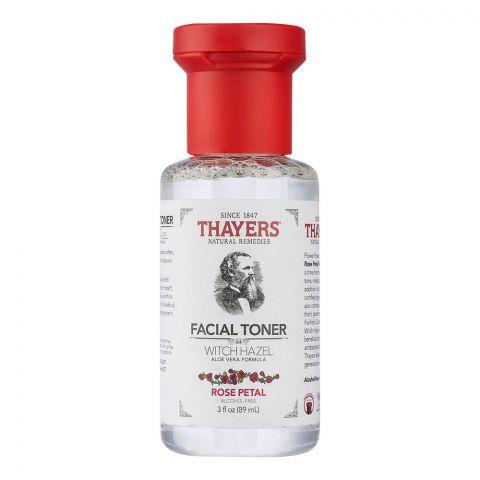 Thayers Witch Hazel Rose Petal Facial Toner, Alcohol Free, 89ml