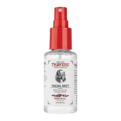 Thayers Witch Hazel Rose Petal Facial Mist, Alcohol Free, 89ml