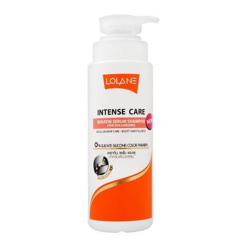 Lolane Intense Care Keratin Serum Shampoo, For Volumizing, Sulfate & Paraben Free, 400ml