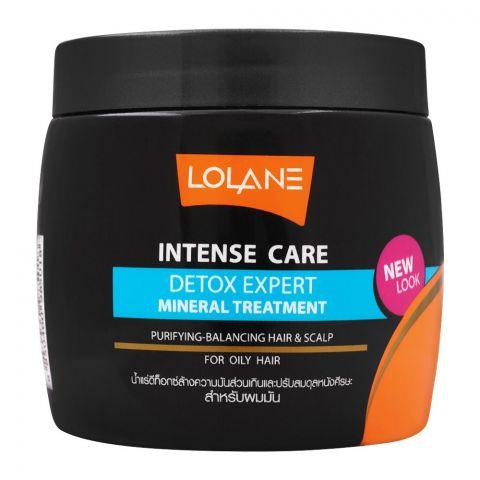 Lolane Intense Care Detox Expert Mineral Hair & Scalp Treatment, For Oily Hair, 250g