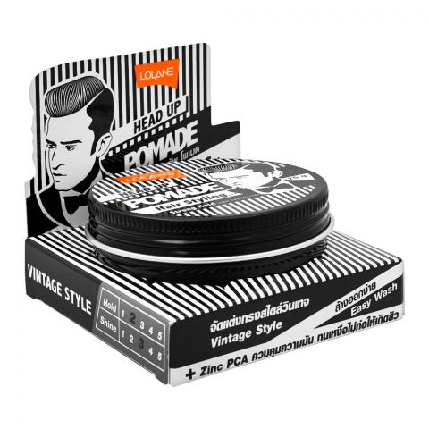 Lolane Head Up Pomade Hair Styling Strong Hold, 75g