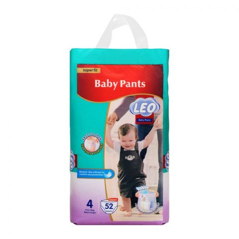 Leo Plus Super Fit Baby Pants Large No. 4, 9-14Kg, 52-Pack