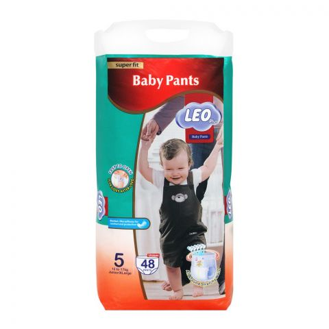 Leo Plus Super Fit Baby Pants XLarge No. 5, 12-17Kg, 48-Pack