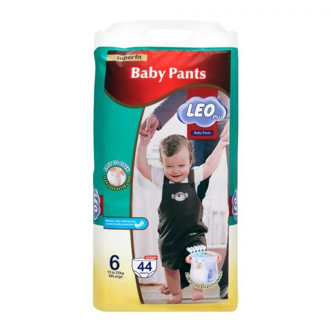 Leo Plus Super Fit Baby Pants XXLarge No. 6, 15-25Kg, 44-Pack