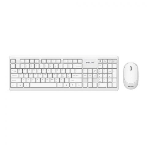 Philips Wireless Keyboard & Mouse Combo, White, C314