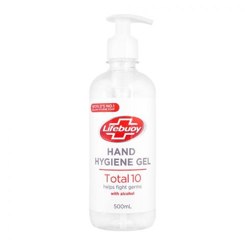 Lifebuoy Total 10 Hand Hygiene Gel, With Alcohol, Imported, 500ml