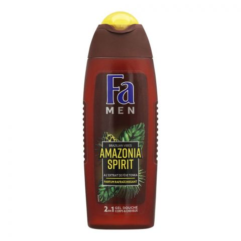 Fa Men Amazonia Spirit 2-In-1 Hair & Body Shower Gel, 250ml