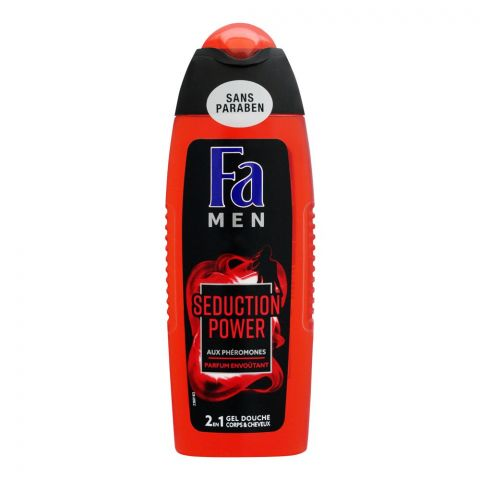 Fa Men Seduction Power 2-In-1 Hair & Body Shower Gel, 250ml