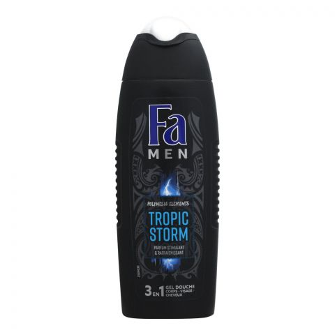 Fa Men Tropic Storm 3-In-1 Face Hair & Body Shower Gel, 250ml