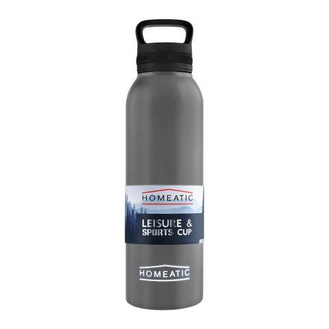 Homeatic Steel Sports Water Bottle, Grey, 730ml, KA-034