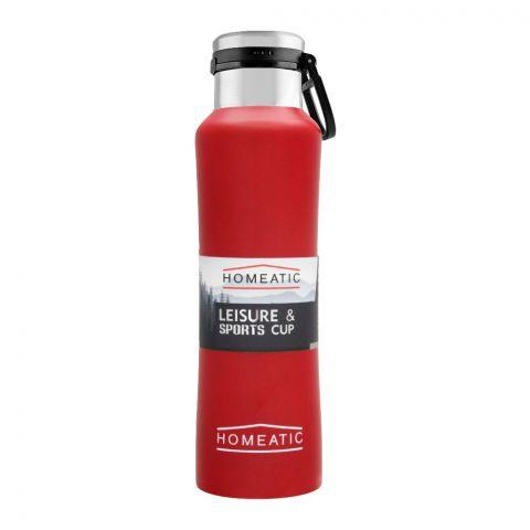 Homeatic Steel Sports Water Bottle, Red, 550ml, KA-038