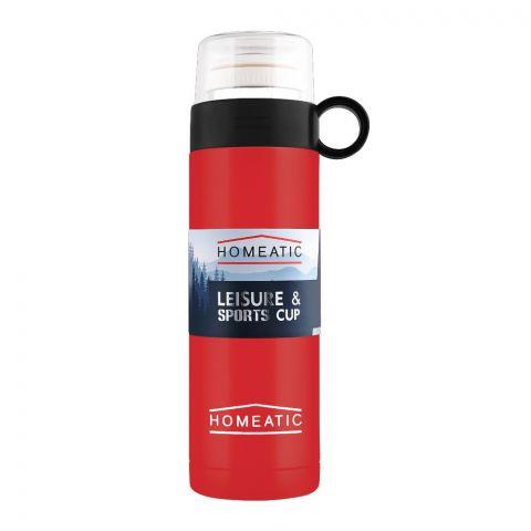 Homeatic Steel Sports Water Bottle, Red, 500ml, KD-1001