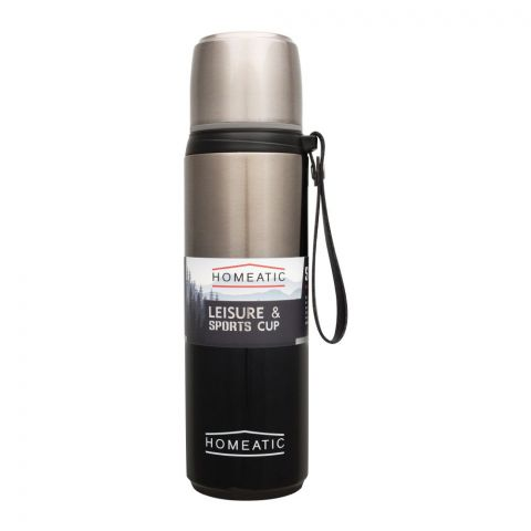 Homeatic Steel Sports Water Bottle, Green, 750ml, KD-1015