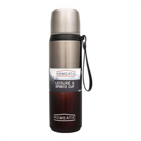 Homeatic Steel Sports Water Bottle, Maroon, 750ml, KD-1015