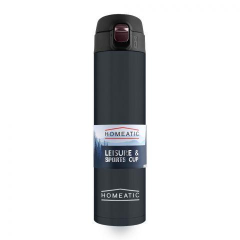Homeatic Steel Sports Water Bottle, Blue, 500ml, KD-837