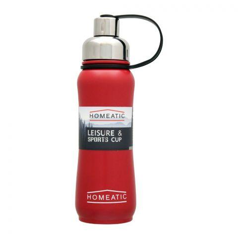 Homeatic Steel Sports Water Bottle, Red, 500ml, KD-850
