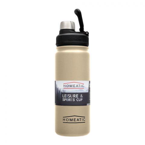 Homeatic Steel Sports Water Bottle, Silver, 650ml, KD-859