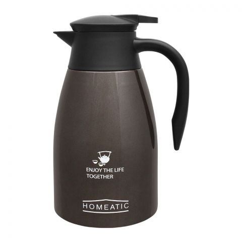 Homeatic Steel Vacuum Thermos, Silver, 1.5L, KD-955