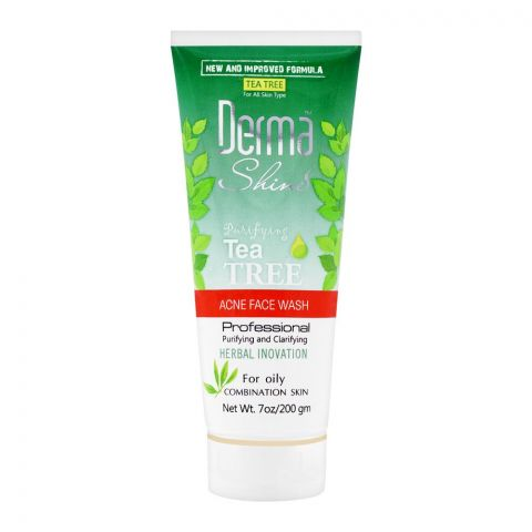 Derma Shine Purifying Tea Tree Acne Face Wash, For Oily Combination Skin, 200g