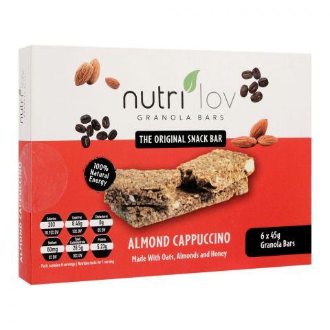 Nutri Lov Granola Bars, Almond Cappuccino, 6x45g