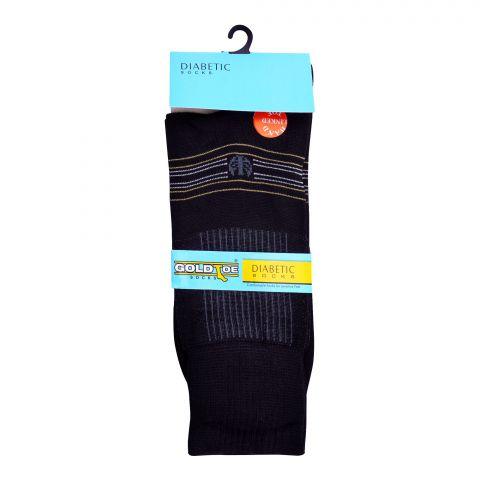 Goldtoe Diabetic Mercerized Socks, 1 Pair, Black
