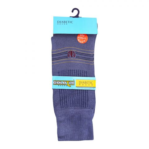 Goldtoe Diabetic Mercerized Socks, 1 Pair, Grey