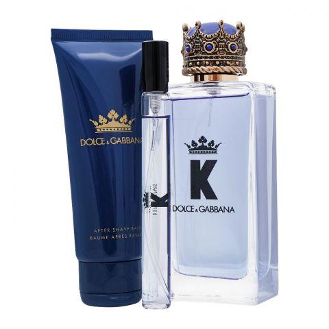 Dolce & Gabbana K Gift Set, EDT 100ml + EDT 10ml + After Shave 75ml