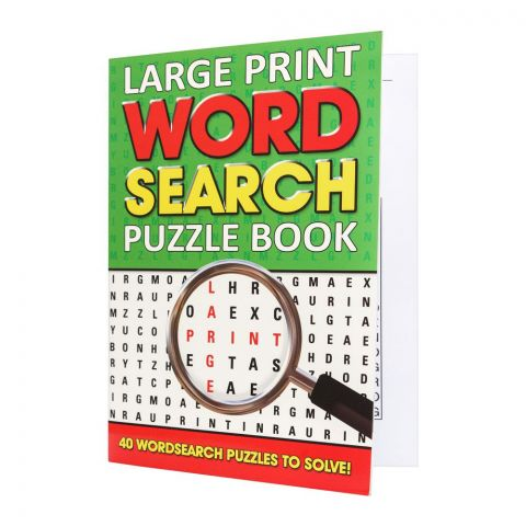 Large Print Wordsearch Puzzle Book