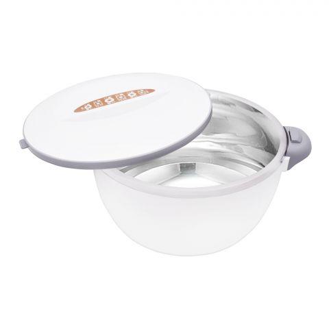 Happy Ware Hot Pot With Lock, 21x16x12cm, 1000ml, White Su-619