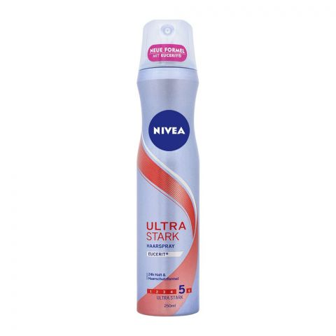 Nivea 24H Ultra Stark 5 Hair Spray, 250ml