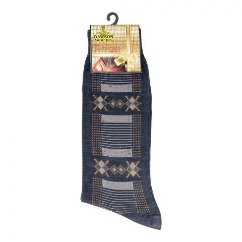 Dawsons Multi Design Socks, Navy Blue