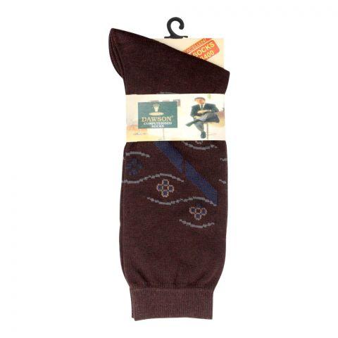 Dawsons Multi Design Socks, Brown