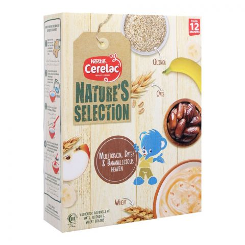 Nestle Cerelac Nature's Selection Cereal, Multigrain, Dates & Bananalicious, 350g