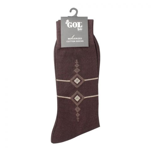 Gol Mercerized Cotton Socks, Brown