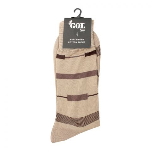 Gol Mercerized Cotton Socks, Beige