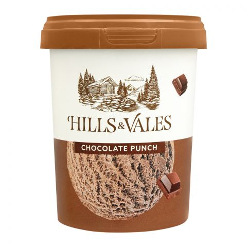 Hills & Vales Chocolate Punch Ice Cream, 500ml