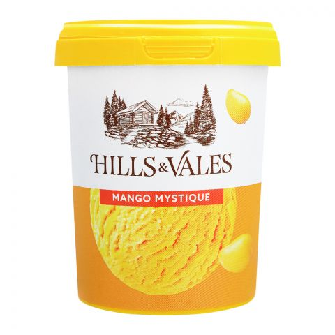 Hills & Vales Mango Mystique Ice Cream, 500ml