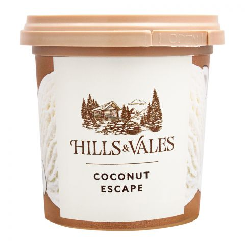 Hills & Vales Coconut Escape Ice Cream, 125ml