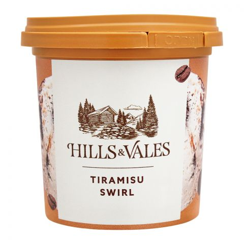 Hills & Vales Tiramisu Swirl Ice Cream, 125ml