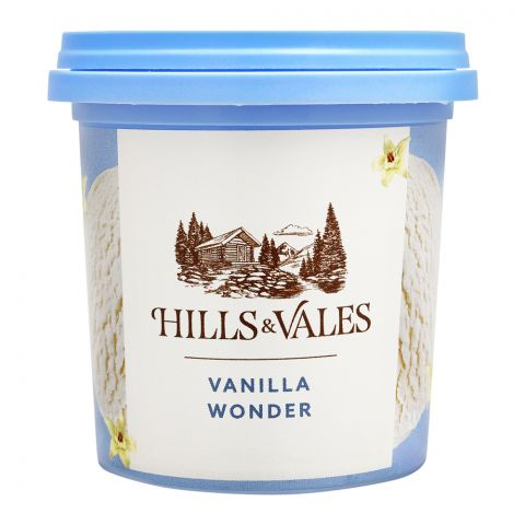 Hills & Vales Vanilla Wonder Ice Cream, 125ml