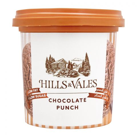 Hills & Vales Chocolate Punch Ice Cream, Low Fat, Low Sugar, 125ml