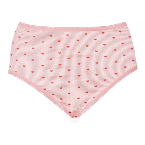 IFG Deluxe Brief NM 019 Panty, Abstract Art Print Peach